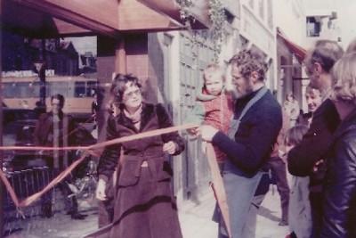 Opening van de winkel aan de Wittenkade (1978)